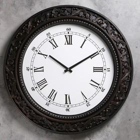 """Часы настенные, серия: Классика, """"Мальта"""", d=60 см, темная рама"""