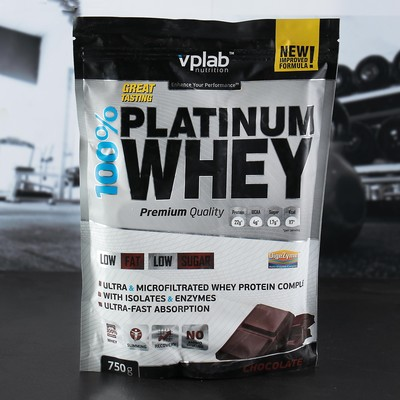 VPLab 100% Platinum Whey, шоколад, 750 г