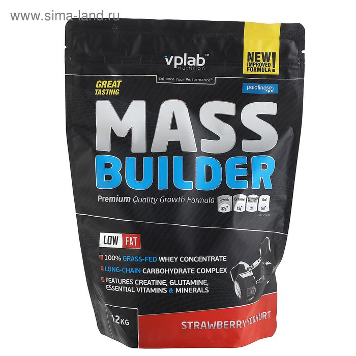 VPLab Масс Билдер, клубника/йогурт, 1200 г