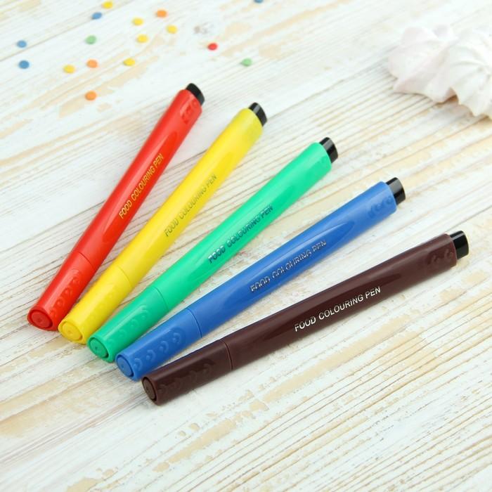 Набор маркеров для украшения десертов 21х12х1,5 см, 5 шт, разноцветные