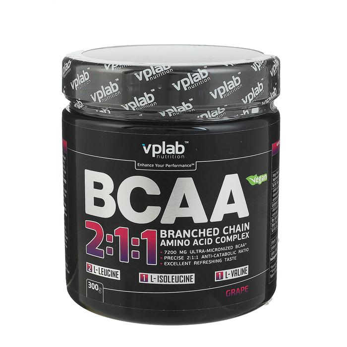 Аминокислоты BCAA 2:1:1 VPLab, виноград, 300 г