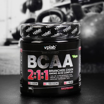 Аминокислоты BCAA 2:1:1 VPLab, малина, 300 г