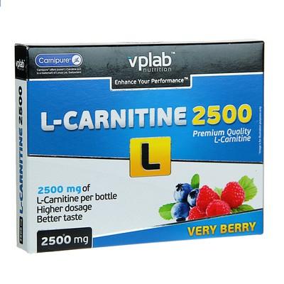 L-карнитин VPLab 2500 мг, лесные ягоды, 7 ампул по 25 мл