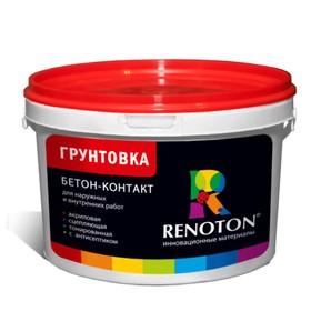 Грунтовка Бетон контакт «RENOTON» сцепляющая, цвет розовый 4кг