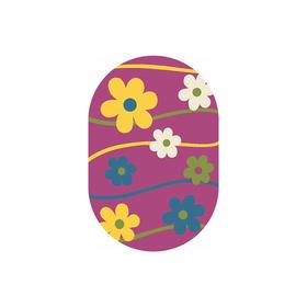 Овальный ковёр Crystal 1021, 160 х 230 см, цвет purple