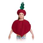 """Карнавальный костюм """"Свёкла"""", текстиль, накидка и маска-шапочка, рост 98-128 см"""