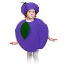 """Карнавальный костюм """"Слива"""", текстиль, накидка и маска-шапочка, рост 98-128 см"""