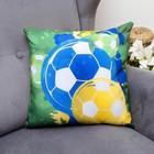 Подушка декоративная Футбол 3, 40х40см, габардин, синтетич. волокно, 160 гр/м