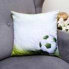 Подушка декоративная Футбол 4, 40х40см, габардин, синтетич. волокно, 160 гр/м