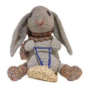 """Набор для вязания игрушки """"Кролик на санках Степка"""" 18х17 см"""