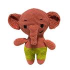 """Knitting toy """"Elephant SIM"""" 15х13 cm"""