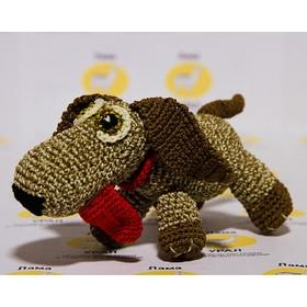 """Набор для вязания игрушки """"Собачка с языком Кузя"""" 20х10 см"""