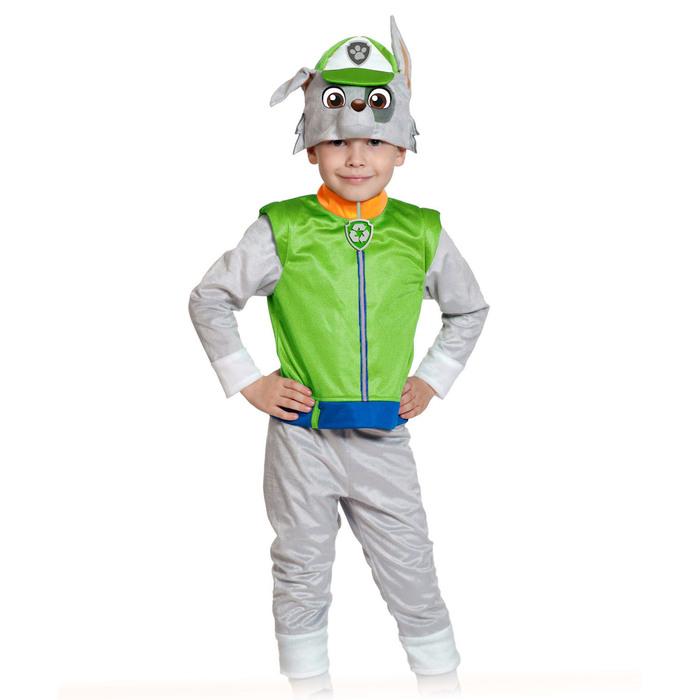 """Карнавальный костюм """"Рокки"""", щенячий патруль, р-р 28-30, рост 104-110 см"""