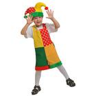 """Карнавальный костюм """"Скоморох"""", плюш, полукомбинезон, колпак, рост 92-122 см"""