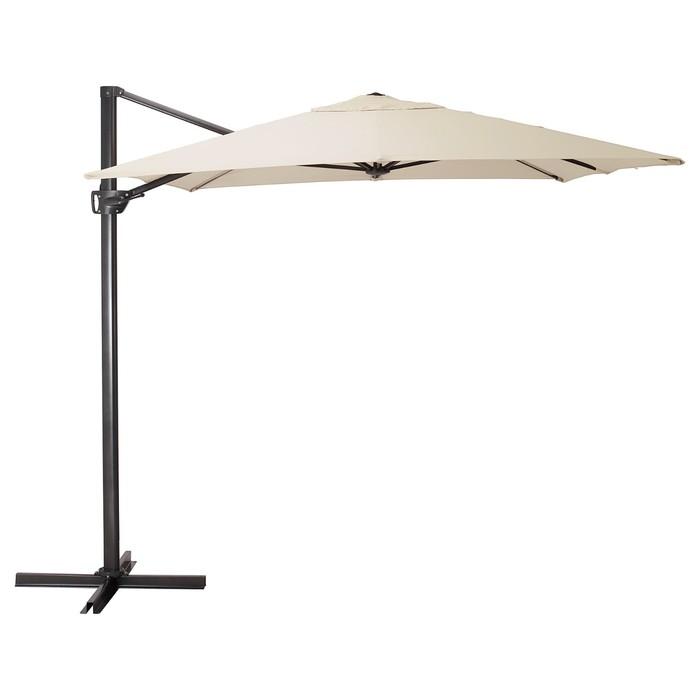 Зонт от солнца СЕГЛАРО, 330x240 см, подвесной, наклонный, бежевый