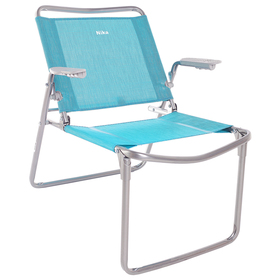 Кресло-шезлонг складное 730x570x640 мм, бирюзовый К1 Ош