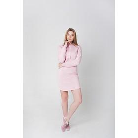 Платье женское KAFTAN с капюшоном, р-р 44-46, розовый