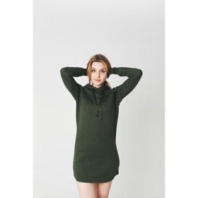 Платье женское KAFTAN с капюшоном, р-р 40-42, хаки