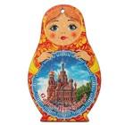 "Доска сувенирная матрёшка ""Санкт- Петербург №4"", 14,9х23см"