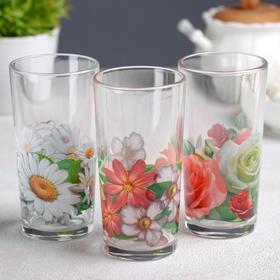 """{{photo.Alt    photo.Description    'Набор стаканов 230 мл """"Цветник"""" для коктейля, 3 шт, МИКС'}}"""