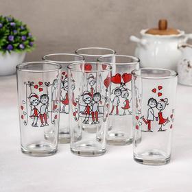 A set of glasses 250 ml Love cocktail, 6 PCs, MIX