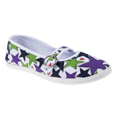 Женская прогулочная обувь, цвет белый/синий, размер 37