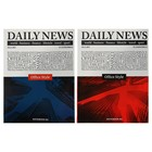 Бизнес-блокнот А5, 64 листа Daily news, твёрдая обложка, глянцевая ламинация, микс