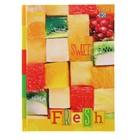 Бизнес-блокнот А6, 80 листов Sweet fresh, твёрдая обложка, глянцевая ламинация, микс