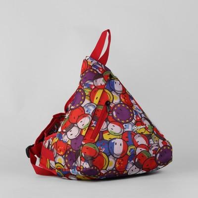 """Рюкзак молодёжный """"Шарики"""", отдел на молнии, наружный карман, разноцветный"""