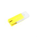 Флешка USB2.0 QUMO Click Lemon, 8 Гб, ск. чт. 20 Мб/с, ск. зап. 5 Мб/с, жёлтая