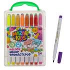 Фломастеры 24 цвета MELODY, вентилируемый колпачок, пластиковый пенал