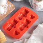 """Форма для выпечки """"Мишки с сердцами"""", 5 ячеек, цвета МИКС"""