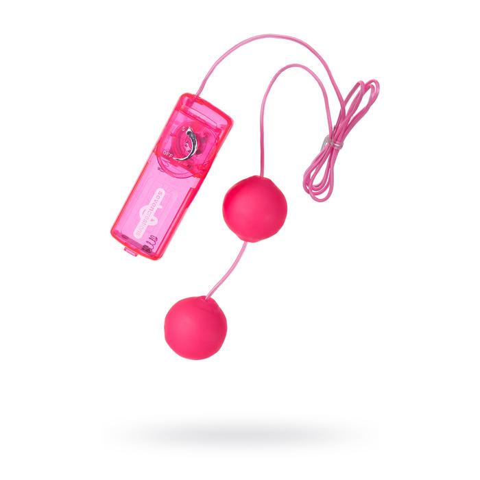 Вагинальные шарики Dream Toys, TPE+ABS пластик, 3,6 см, (0T-00004167), розовый