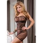 Платье-сетка Candy Girl с открытым плечом, OS, (0T-00006217), черный