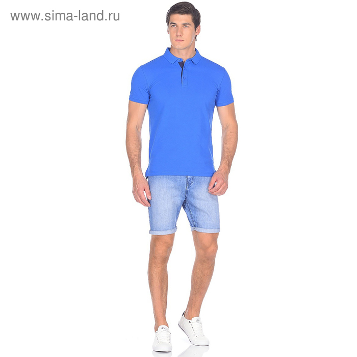 Шорты джинсовые мужские 10562, цвет синий, р-р 46
