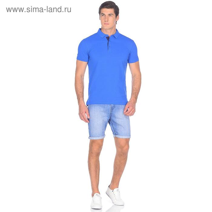 Шорты джинсовые мужские 10562, цвет синий, р-р 52