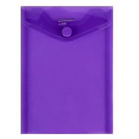 Папка-конверт на кнопке А6 Comix вертик 156*115мм 180мкм  фиолетовый  А1856 Ош