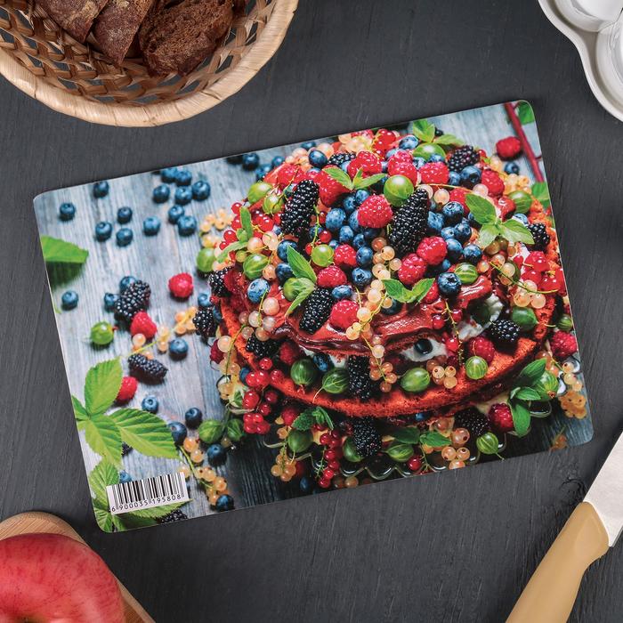 Доска разделочная «Ягодный десерт», 23×16×0,6 см