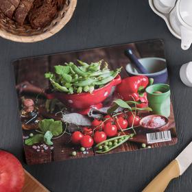 Доска разделочная «Овощной натюрморт», 23×16×0,6 см