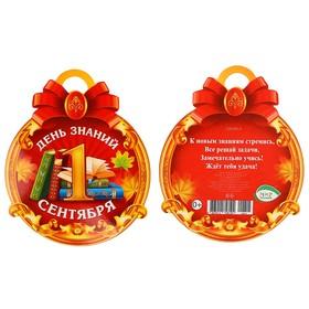 Медаль '1 сентября. День знаний' красный фон Ош