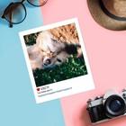 Почтовая карточка в стиле инстаграм «Счастливы вместе», 8,8 х 10,7 см