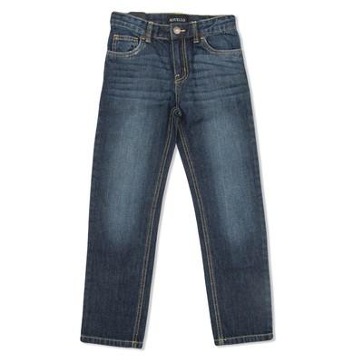 Брюки джинсовые для мальчиков, рост  140 см, цвет тёмно-синий 2061