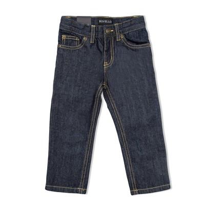 Брюки джинсовые для мальчиков, рост  92 см, цвет синий 2064_М