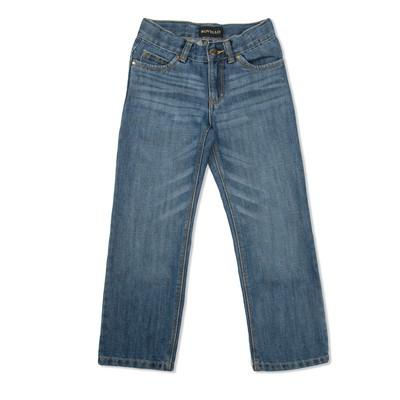 Брюки джинсовые для мальчиков 3055 С, рост  122-128 см, цвет синий 3055