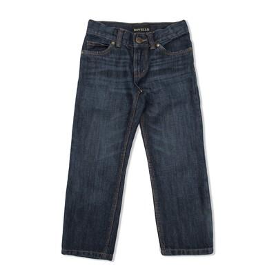 Брюки джинсовые для мальчиков 3055 Т.с, рост  110-116 см, цвет тёмно-синий 3055