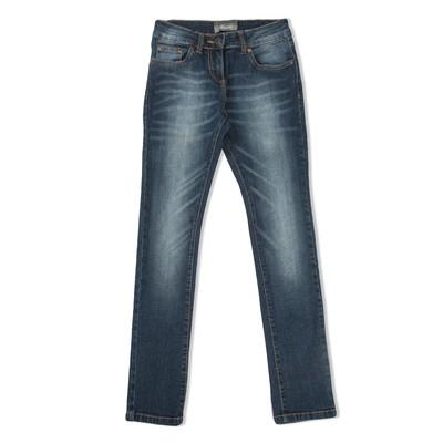 Брюки джинсовые д/д 4054 С, рост  122-128 см, цвет синий 4054