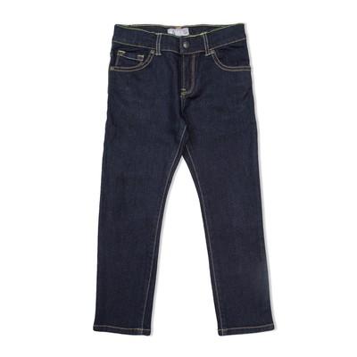Брюки джинсовые д/д 4052 Т.с, рост  98 см, цвет тёмно-синий 4052