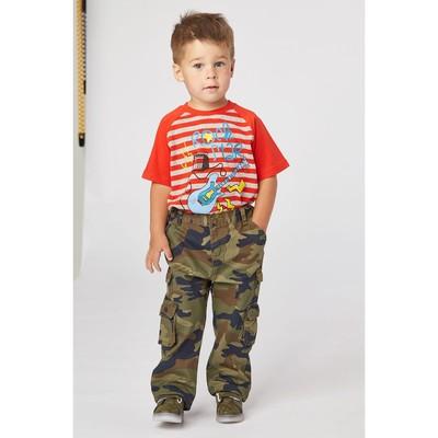 Брюки для мальчика, рост  104 см, цвет милитари зелёный RJ 13