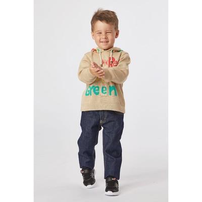 Брюки джинсовые для мальчиков, рост  128 см, цвет синий 2064