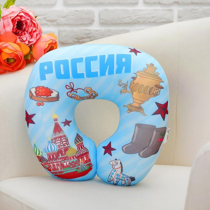 """Мягкая игрушка подголовник-антистресс """"Россия"""" 02"""